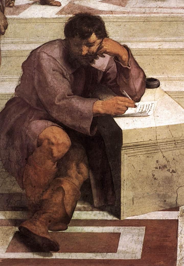 Michelangelo raffigurato come Eraclito