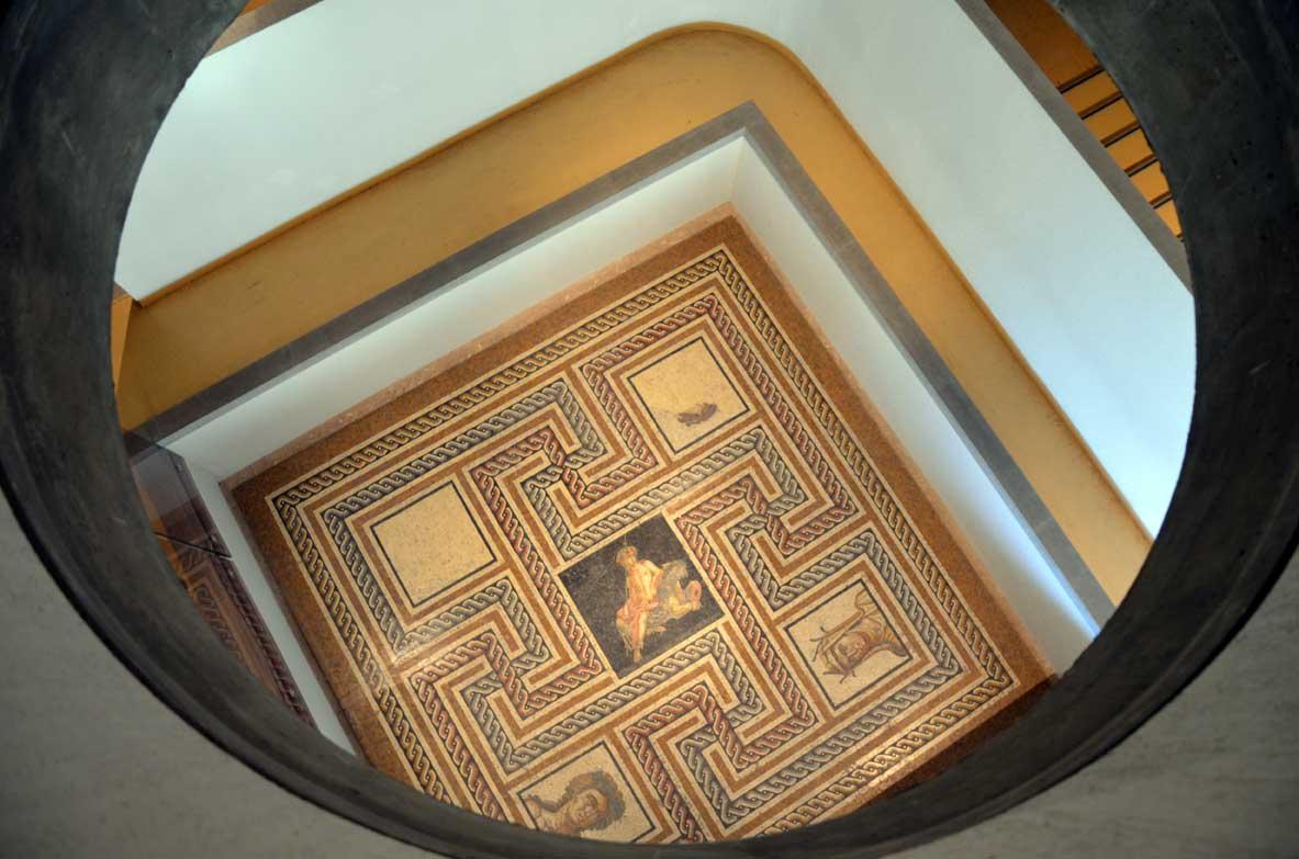mosaici visti dalle balconate