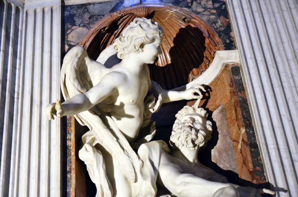 Abacuc e l'angelo nella cappella chigi