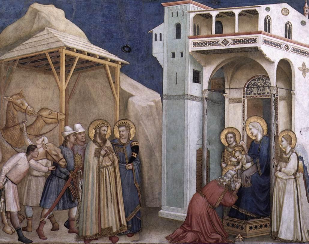 L'adorazione dei magi, ciclo della cappella degli Scrovegni a Padova, uno dei suoi più grandi capolavori