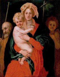 madonna col bambino con san Giuseppe e Giovanni Battista