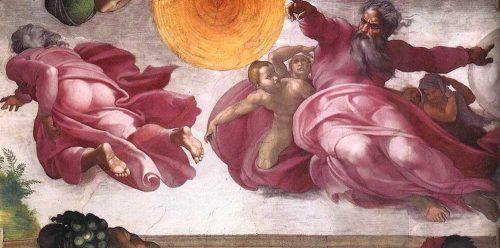 Dio divide la luce dalle tenebre cappella sistina michelangelo