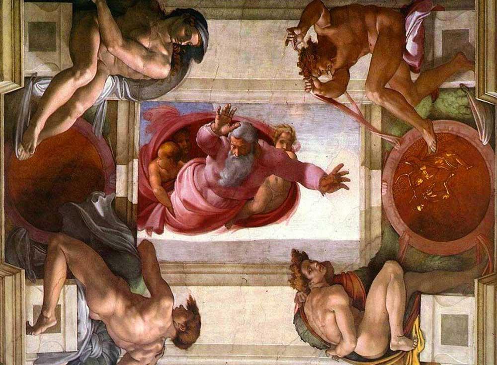 dio-divide-la-terra-dalle-acque-cappella-sistina