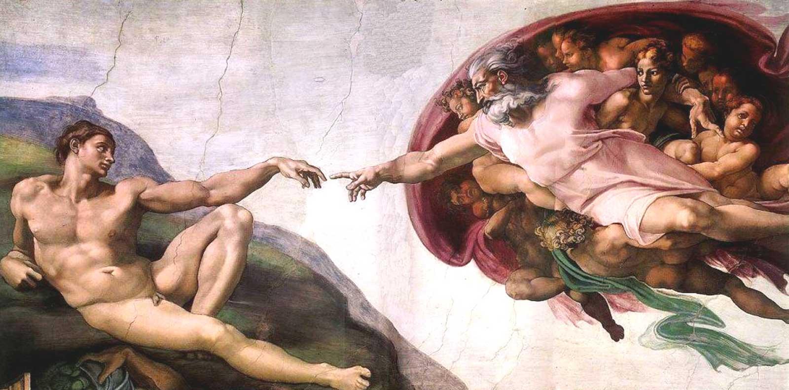 cappella sistina, creazione di adamo