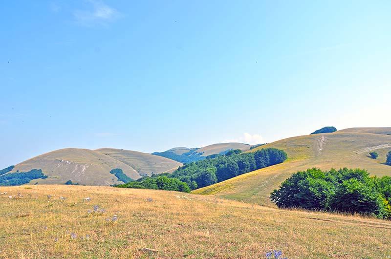 Sulla cima del parco nazionale dei monti sibillini