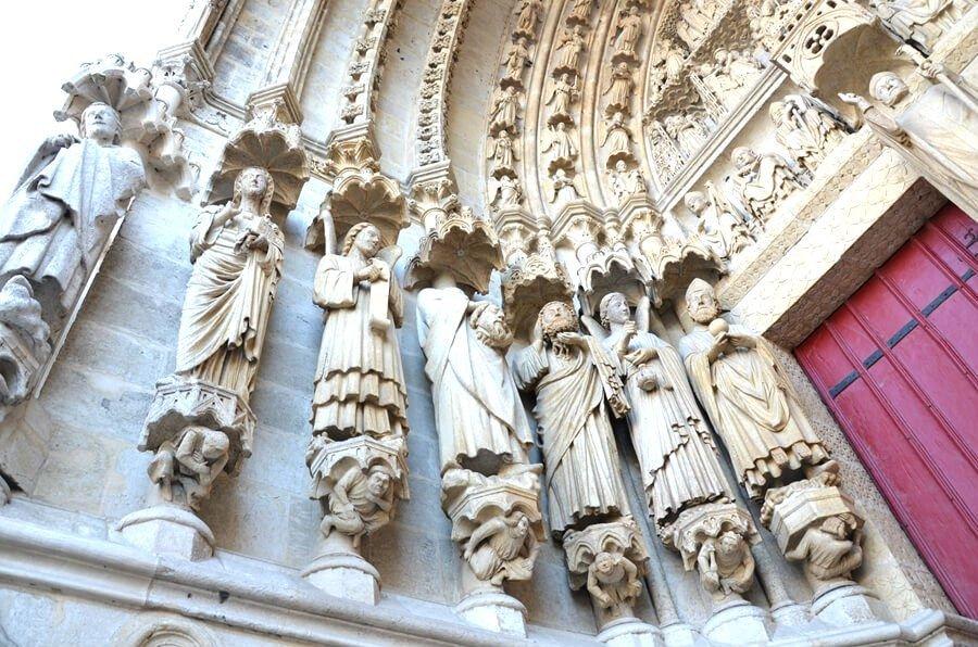 portale della cattedrale di amiens