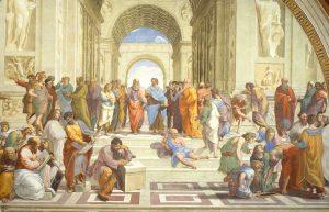 """Quello che non sapete sull'ironia di Raffaello ne """"la scuola di Atene"""""""