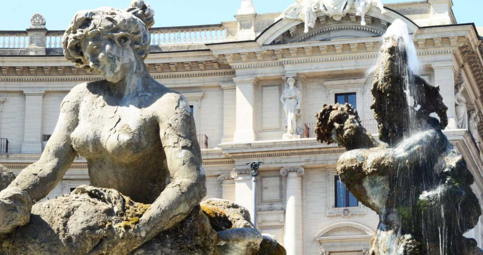 One of the most beautiful fountains in Rome: the fountain of the Naiads at Piazza della Repubblica