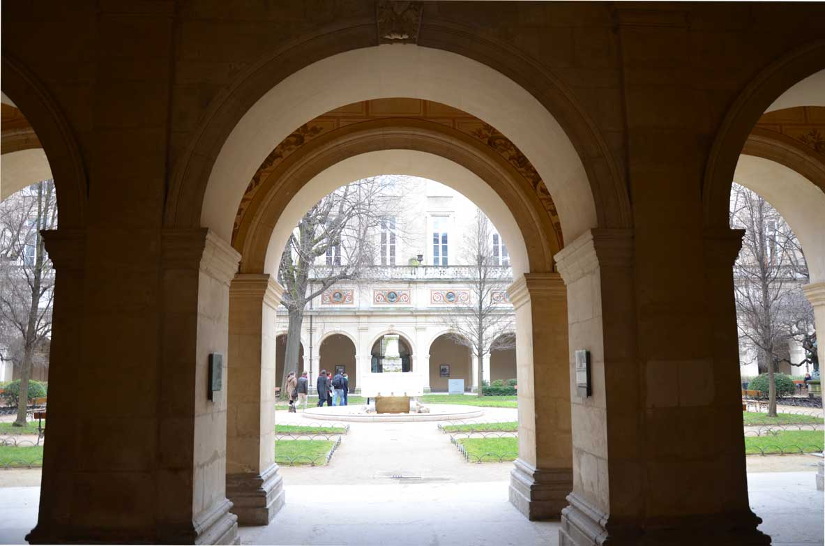 cortile museo delle belle arti di Lione