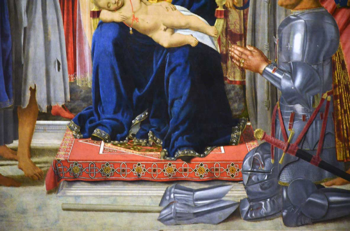 particolare della sacra conversione di piero della francesca