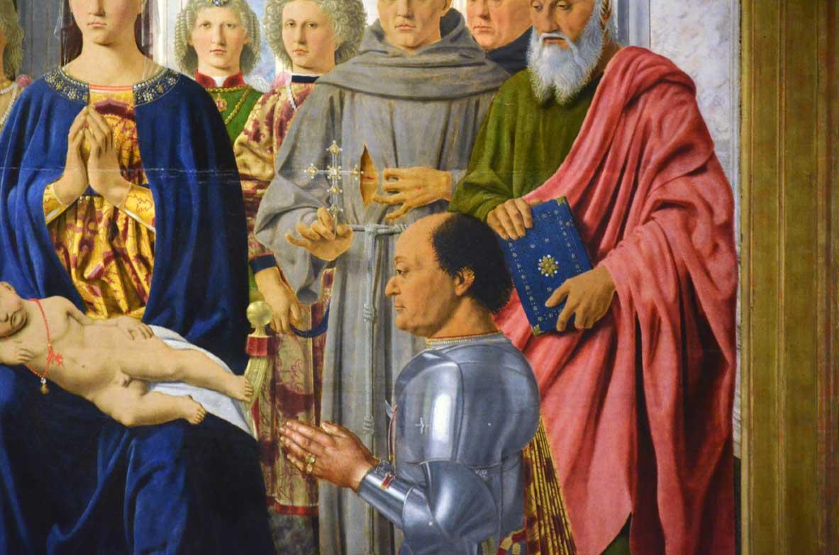 """federico da montefeltro ne """"la sacra conversione"""""""