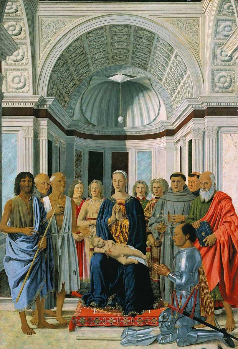 sacra conversione di piero della francesca alla pinacoteca di brera