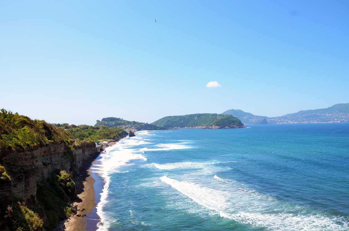Paesaggio sul mare di Procida