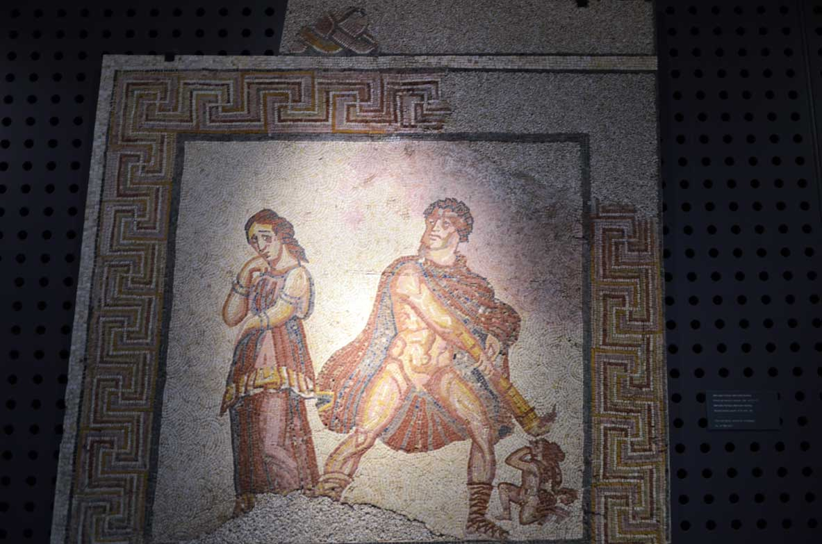 Roman mosaic in the museum of the Roman theater in Lisbon