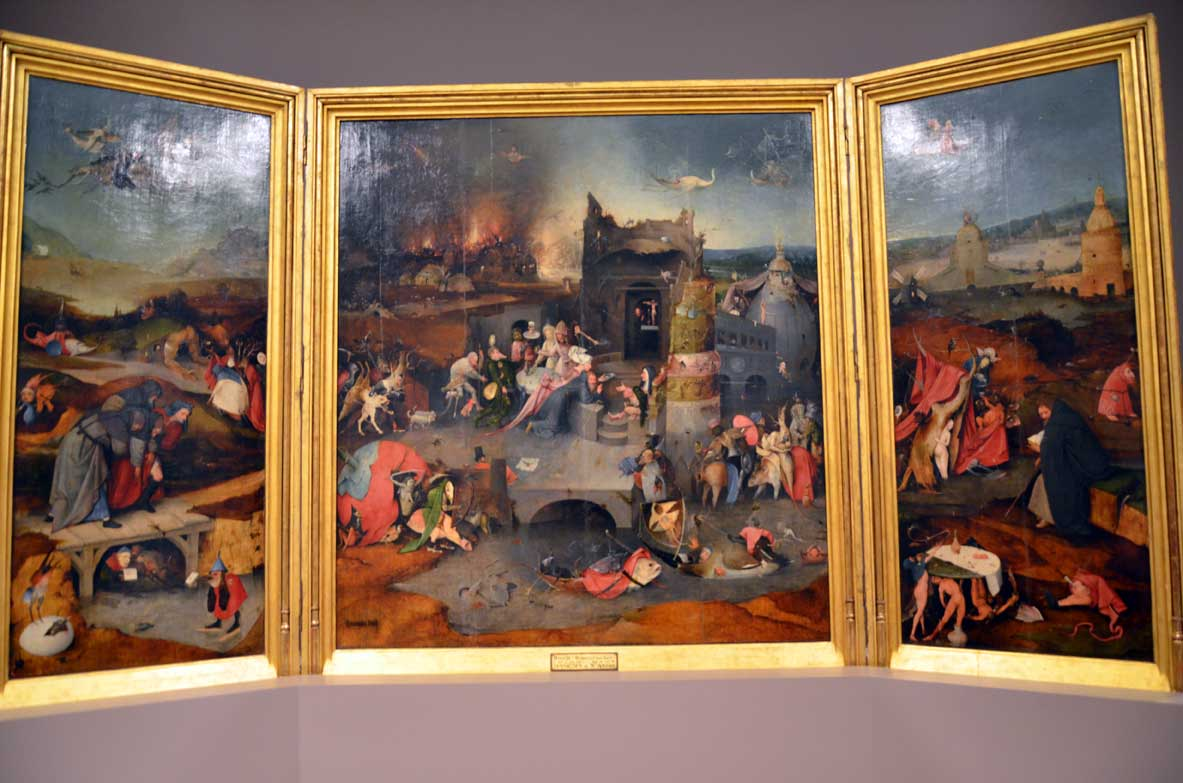 Triptych of the temptations of Saint Anthony at the National Museum of Ancient Art in Lisbon
