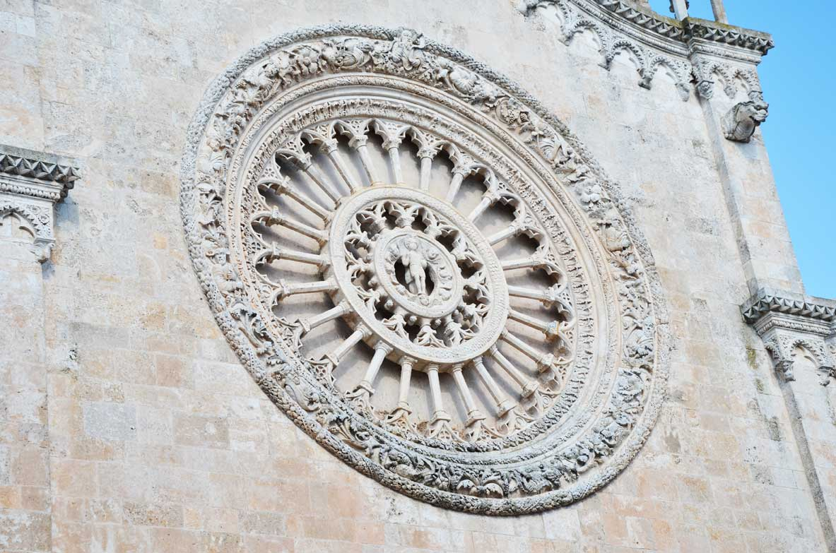 rosone della cattedrale di ostuni