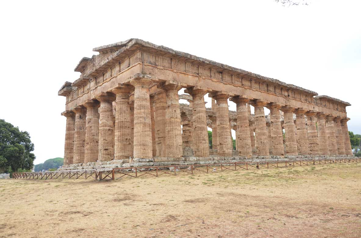 parco archeologico di paestum, il mistero del tempio di poseidone