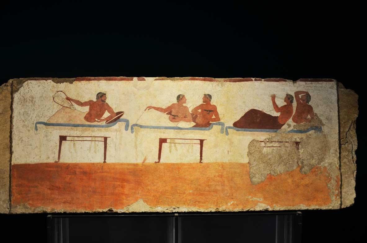 La tomba del tuffatore nel museo archeologico di Paestum