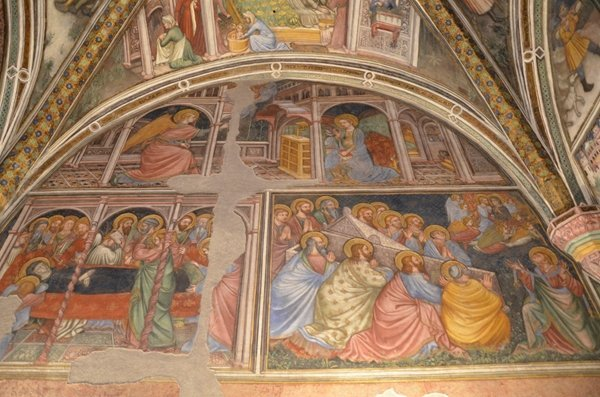 affreschi palazzo trinci