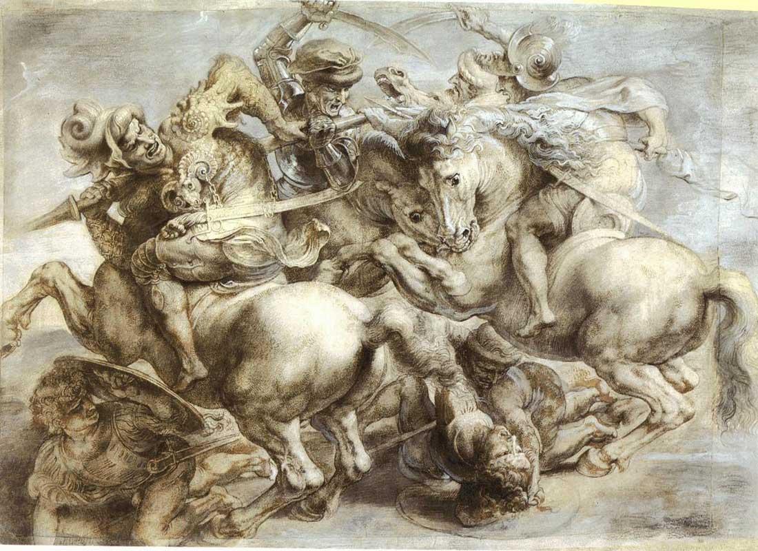 leonardo da vinci battaglia-Anghiari