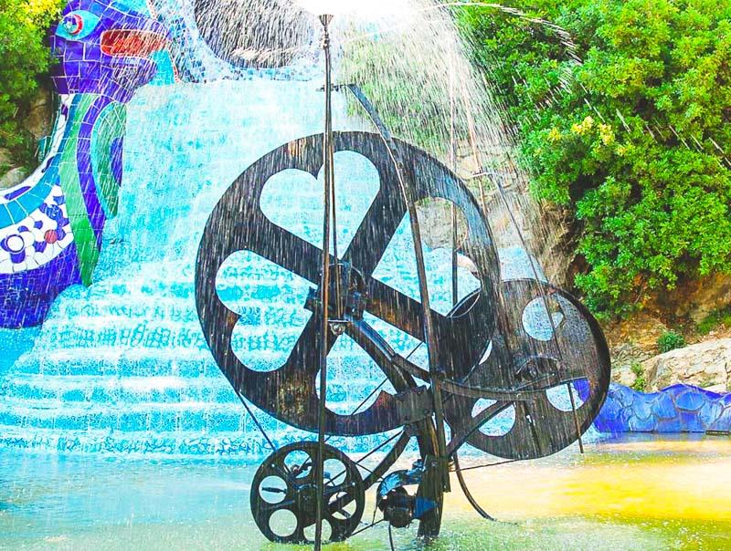 la ruota della fortuna nel parco dei tarocchi