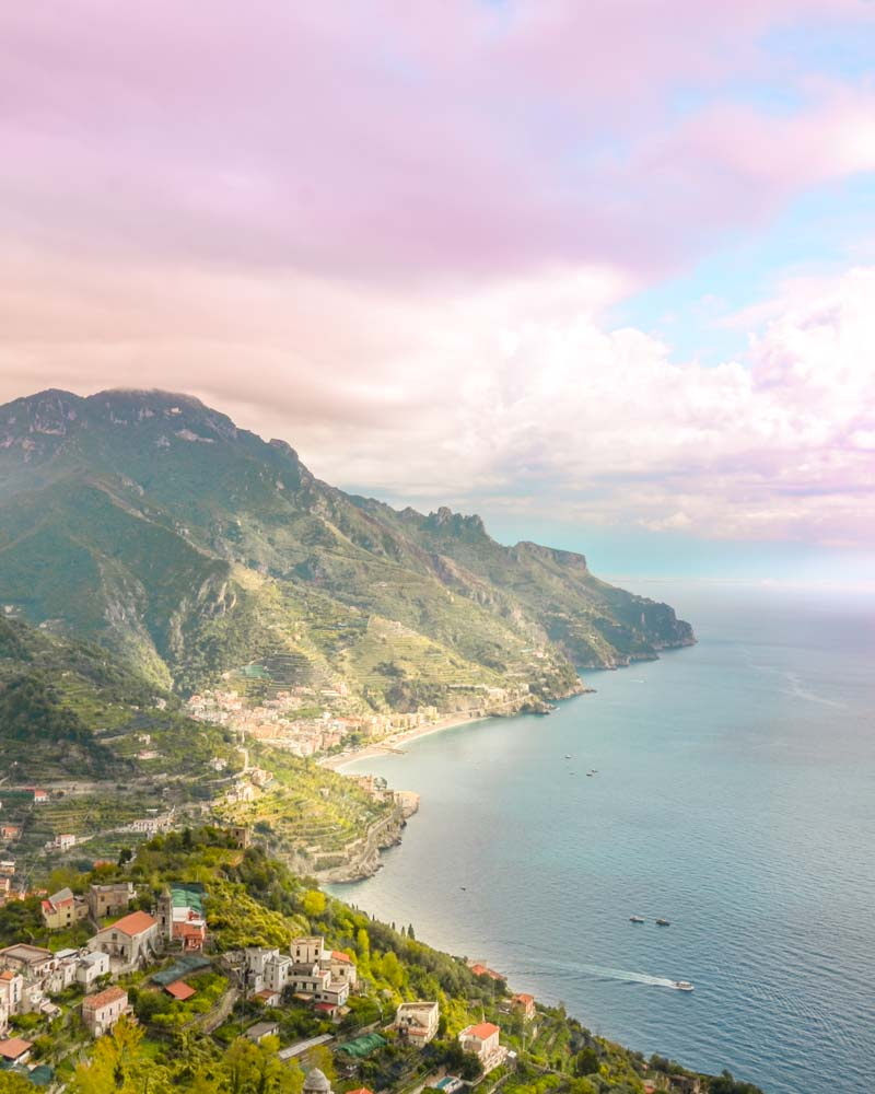 Panorama da ravello in costiera