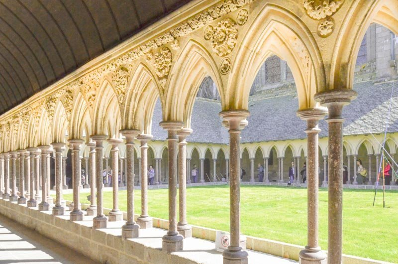 interior arches of the cloister