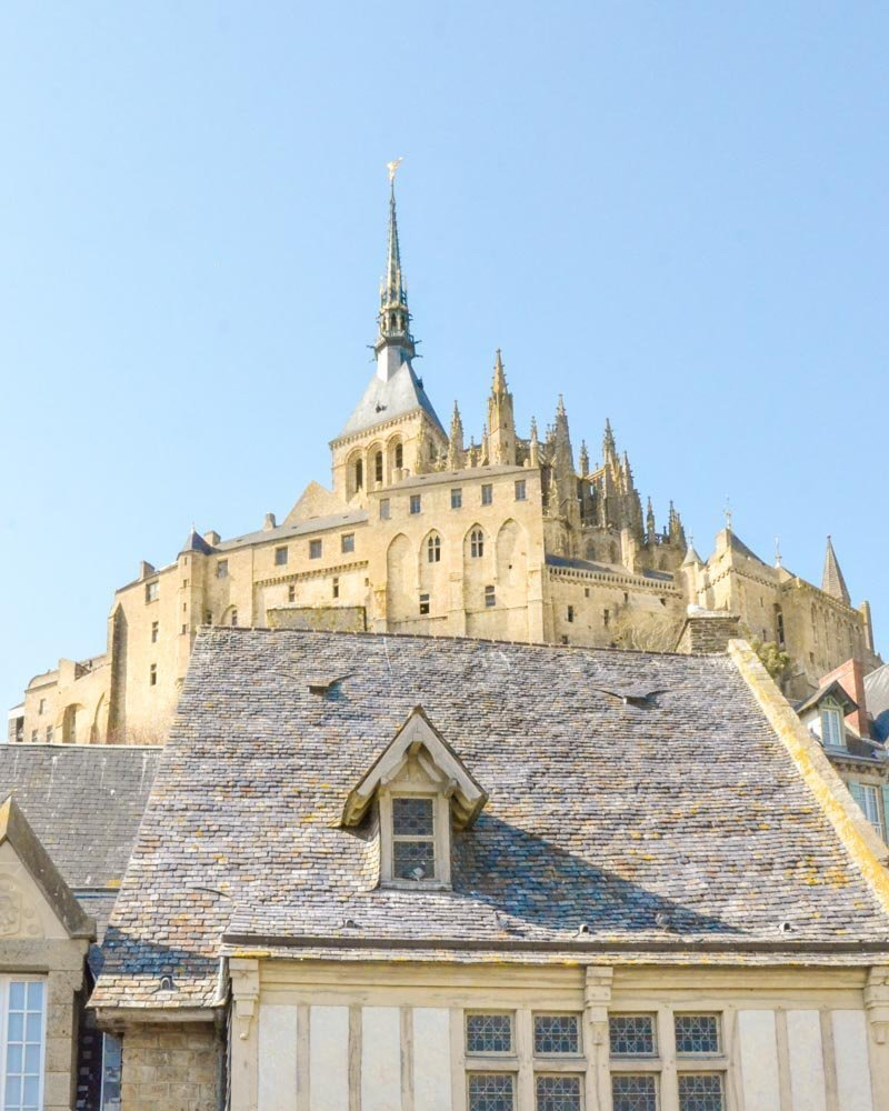abbey of mont saint michel seen from the outside
