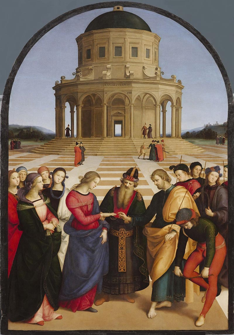 the marriage of the virgin of Perugino
